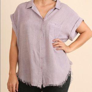 c864e1187a Umgee Tops - umgee mauve button-up shirt (plus size) XL 1XL 2XL